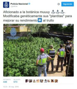 Policia Nacional en redes sociales