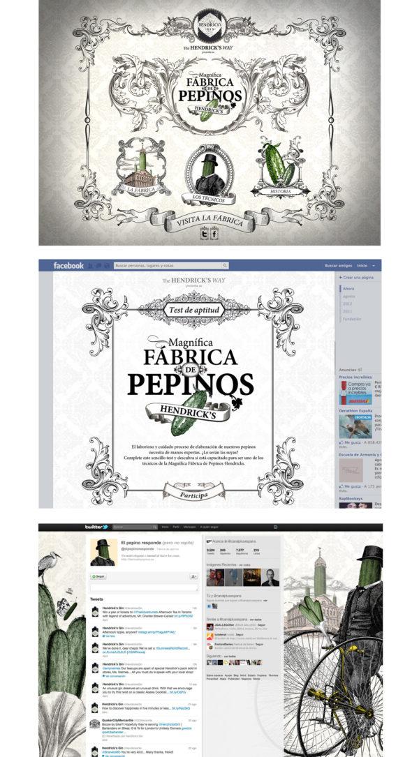 Magnífica Fábrica de Pepinos - Contenidos para Hendrick's Gin