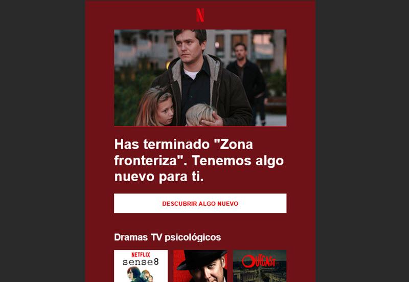 Netflix: Ejemplo de storytelling aplicado al email marketin