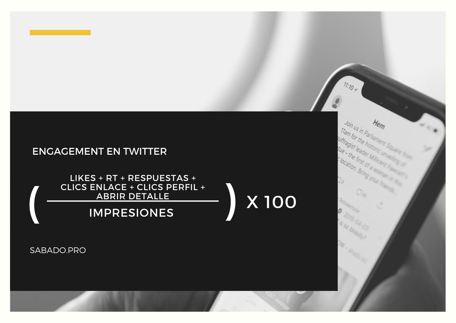 Calcular engagement en Twitter | Blog | Sábado Comunicación y Marketing Digital